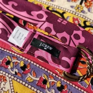 Plum floral Silk tie D-belt from J. Crew